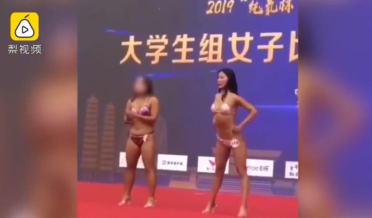 胖女孩参加健身赛,刚上台就被退场