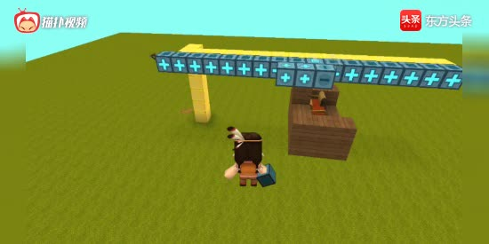迷你世界:会动的空中缆车是怎么做的?原来很简单!